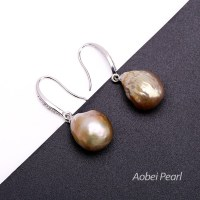 Pink Pearl Dangle Earring