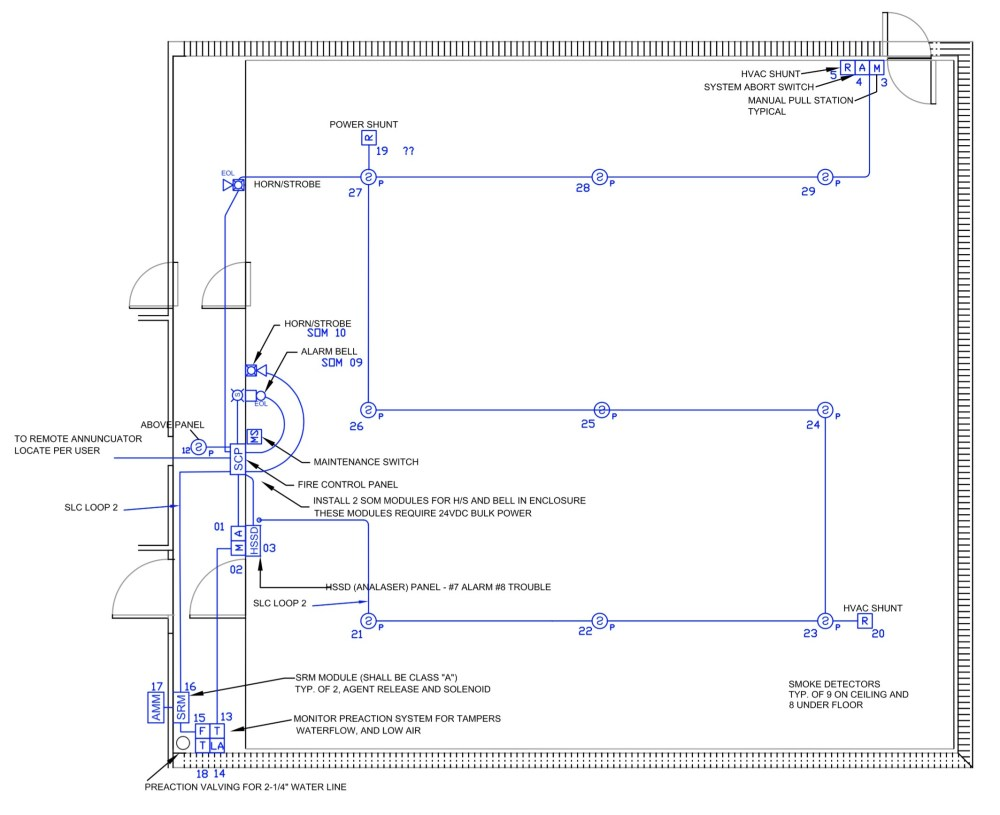medium resolution of e m inc drawing showing correlator room above floor electrical layout part of e m fm200 0574b03 fa03