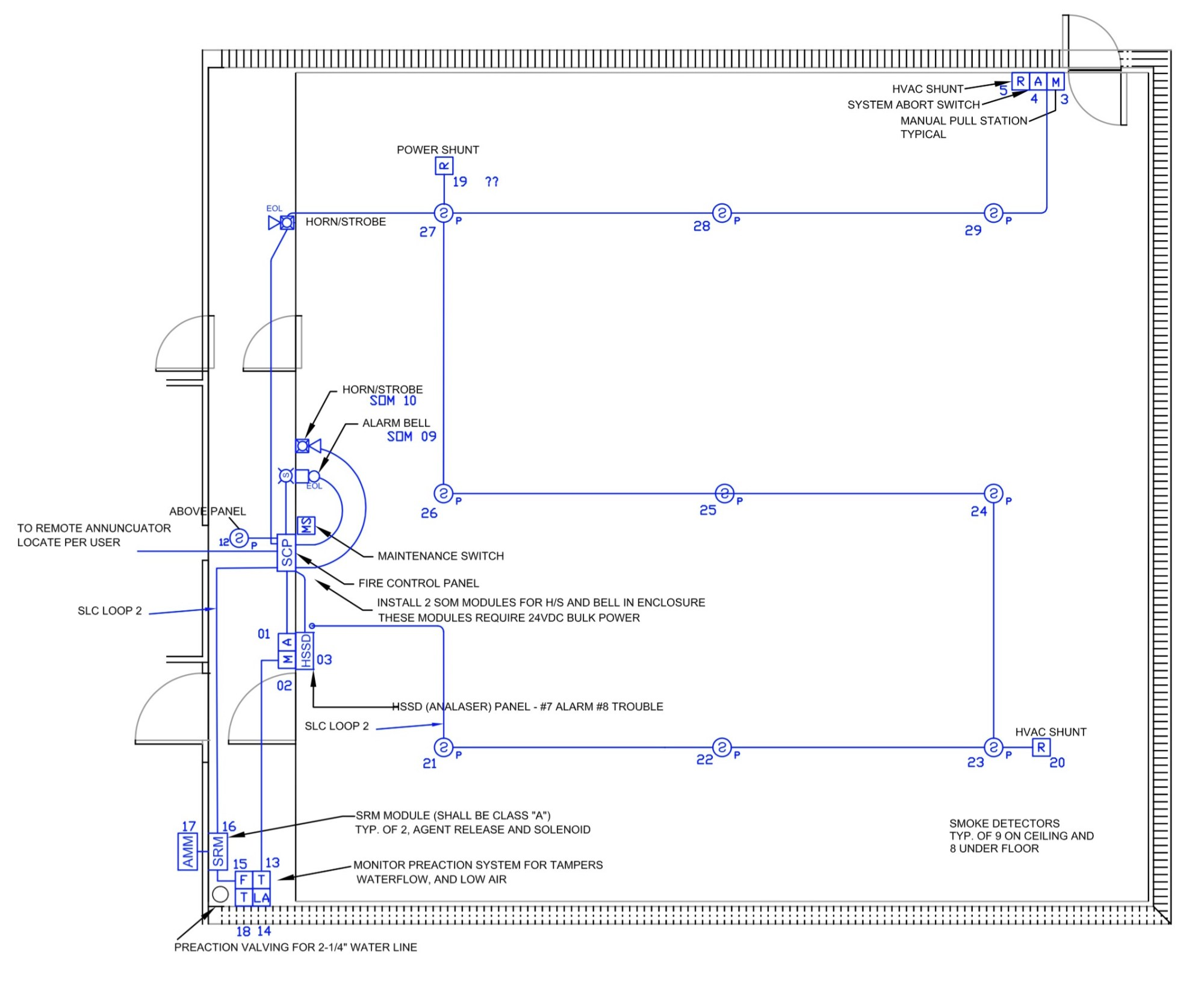 hight resolution of e m inc drawing showing correlator room above floor electrical layout part of e m fm200 0574b03 fa03