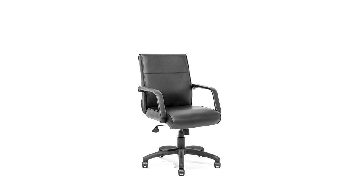 office chair rental inexpensive pool lounge chairs black leather mid back chr011977 arenson