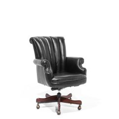 Office Chair Rental Revolving Name Black Leather Traditional Chr014030 Arenson