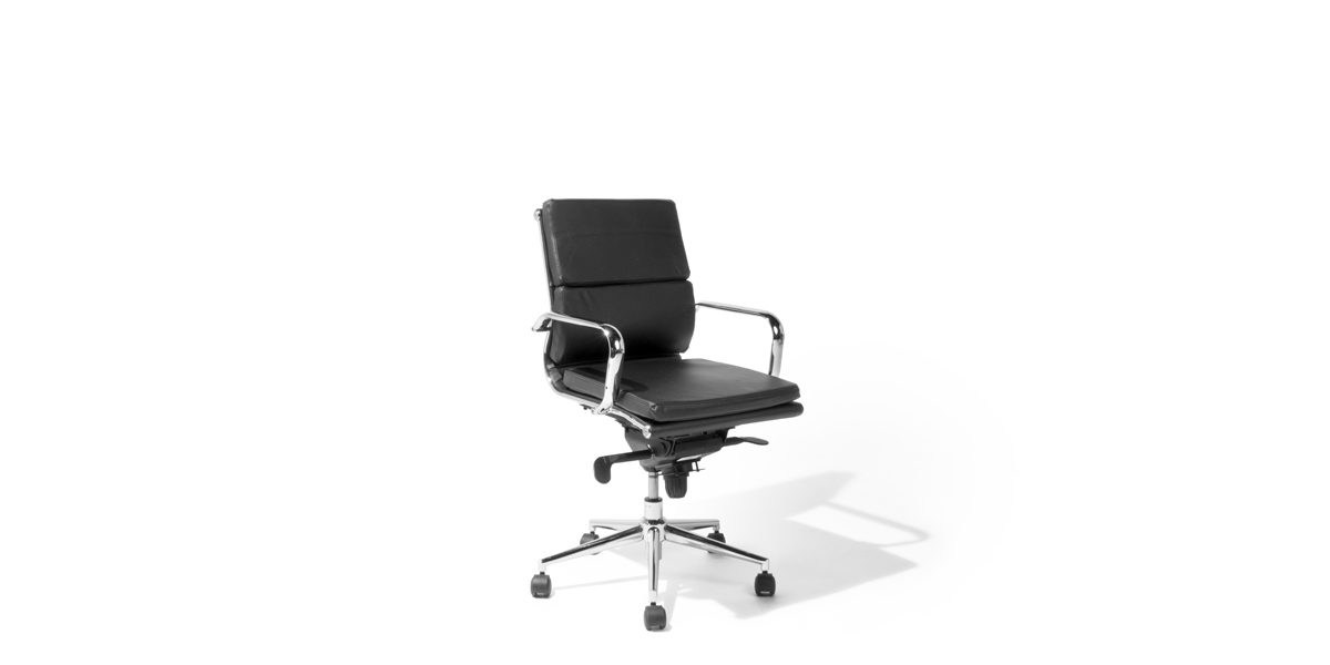 office chair rental stressless chairs nz black leather mid back chr014058 arenson