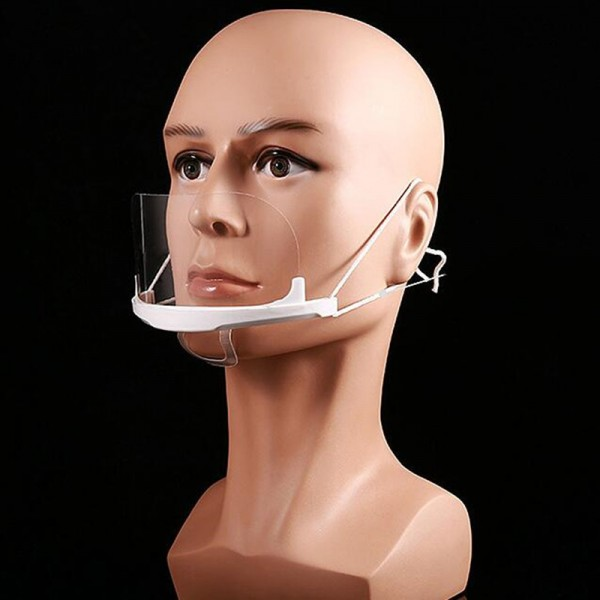 10pcs Chef Transparent masks food hygiene plastic kitchen ...