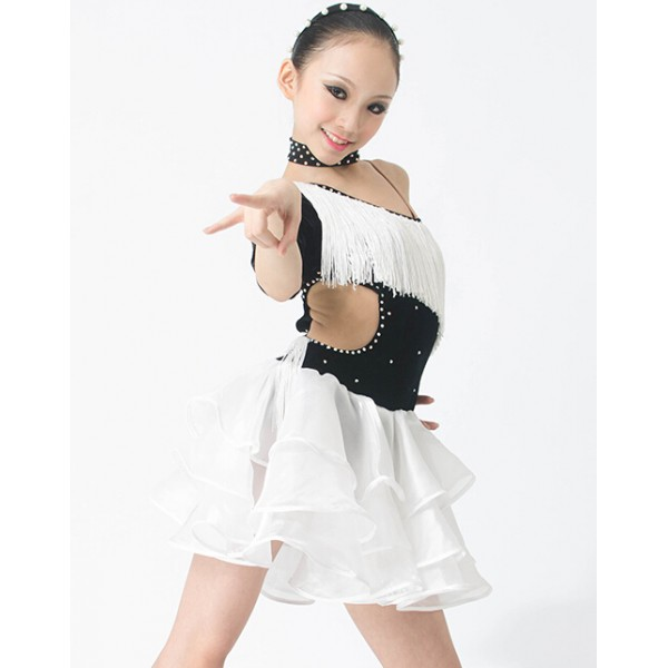 White Belly Dance Fringe Belt