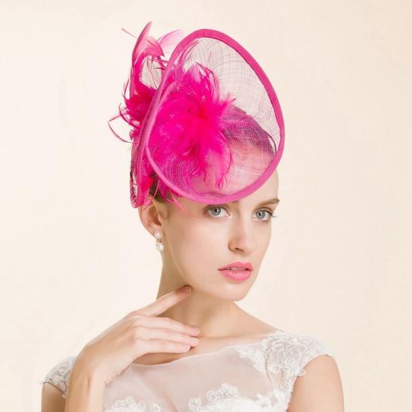 Womens Girls Fuchsia High Quality Fascinators Luxury