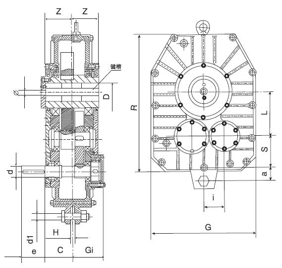 ZJY Series Shaft Mounted Gearbox Reducer (Speed Reducer)