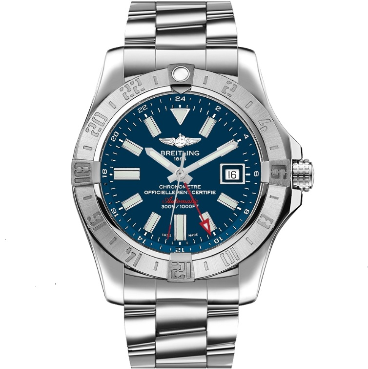 Best Replica Breitling Avenger II GMT Steel Blue Dial A32390111C1A1