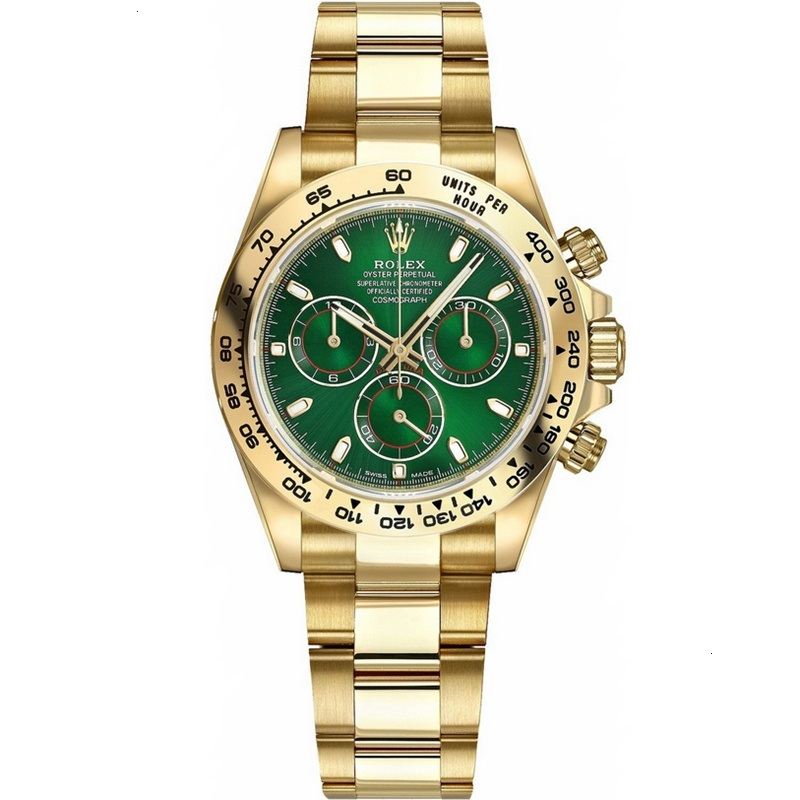 Best Replica Rolex Cosmograph Daytona Yellow Gold Green Dial 116508