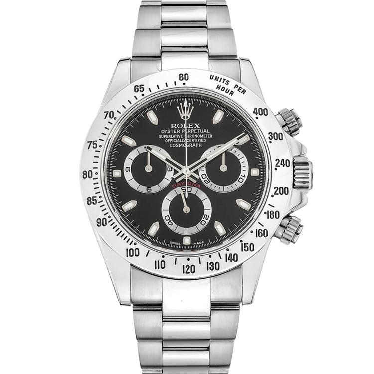 Replica Rolex Cosmograph Daytona Black Dial 116520