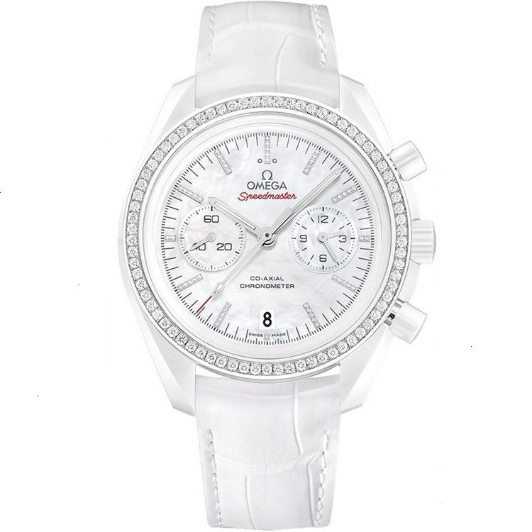 Replica Omega Speedmaster Moonwatch White Side of the Moon Diamond 311.98.44.51.55.001