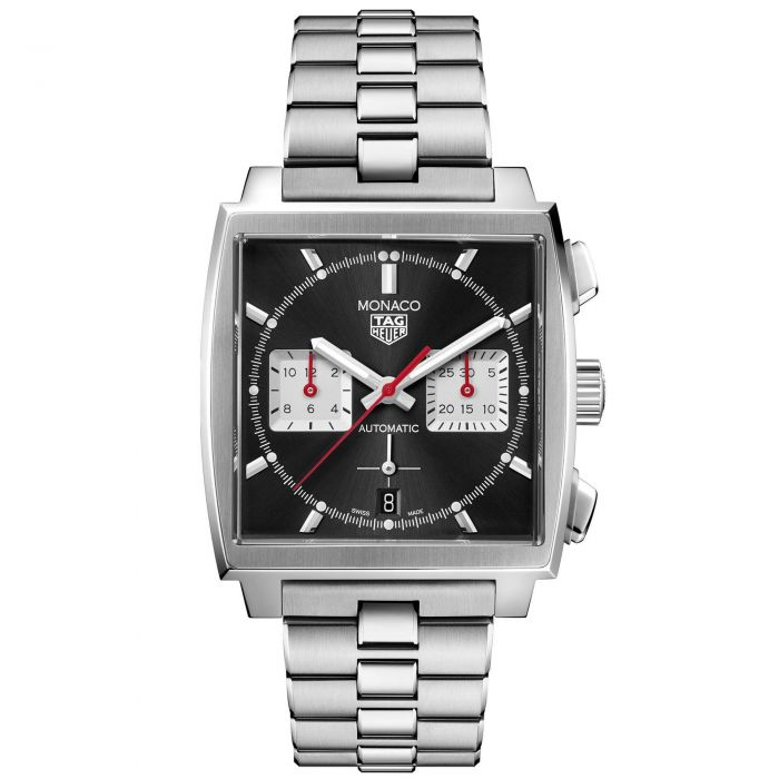 Replica TAG Heuer Monaco Calibre 02 Stainless Steel Black Dial CBL2113.BA0644