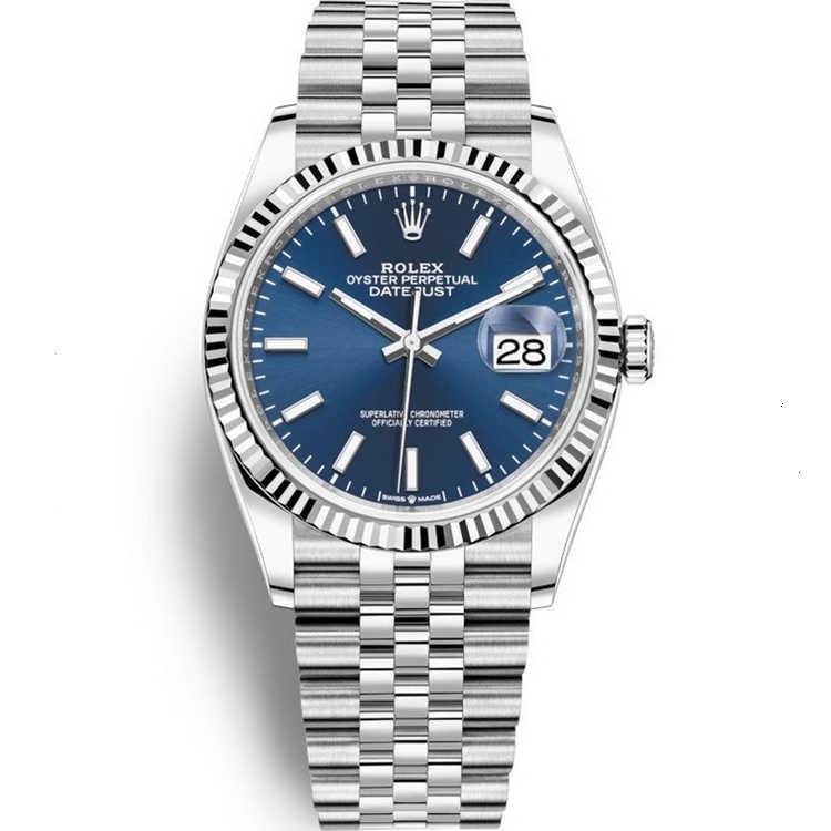 Replica Rolex Datejust 36 Steel Blue Dial 126234