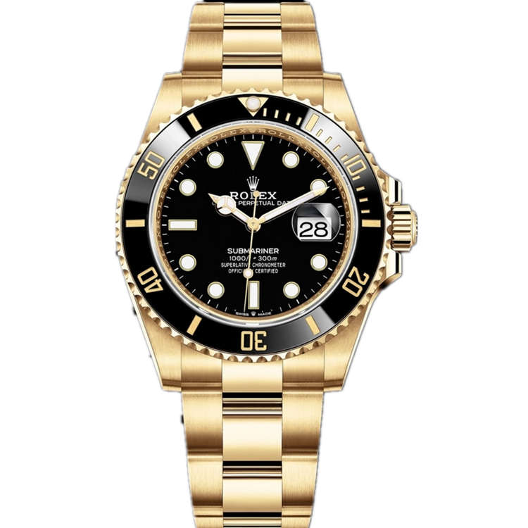Replica Rolex Submariner Date Gold Black Dial 126618LN
