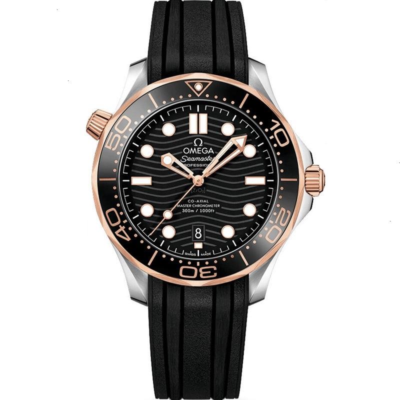 Replica Omega Seamaster Diver 300M Two Tone Black Dial 210.22.42.20.01.002