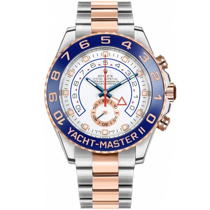 Replica Rolex Yacht-Master II Two Tone White Dial 116681