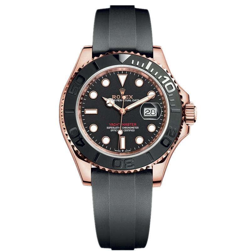 Replica Rolex Yacht-Master 40 Everose Gold Black Dial 126655