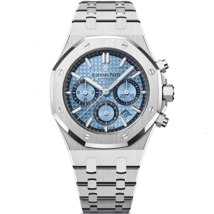 Replica Audemars Piguet Royal Oak Chronograph White Gold Ice Blue 26317BC.OO.1256BC.01