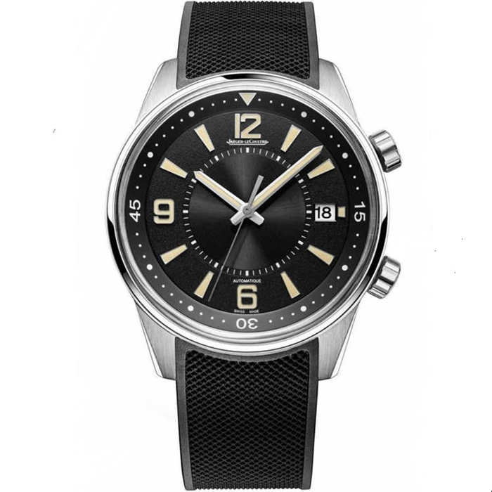 Replica Jaeger LeCoultre Polaris Mariner Date Black Dial 9068670