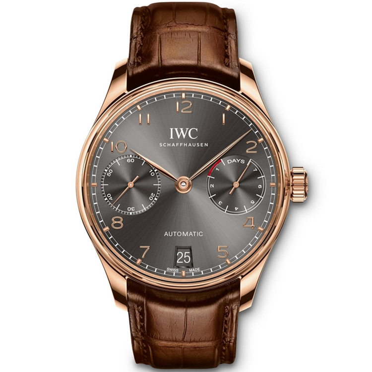 Replica IWC Portugieser Automatic 7 Day Power Reserve Rose Gold IW500702