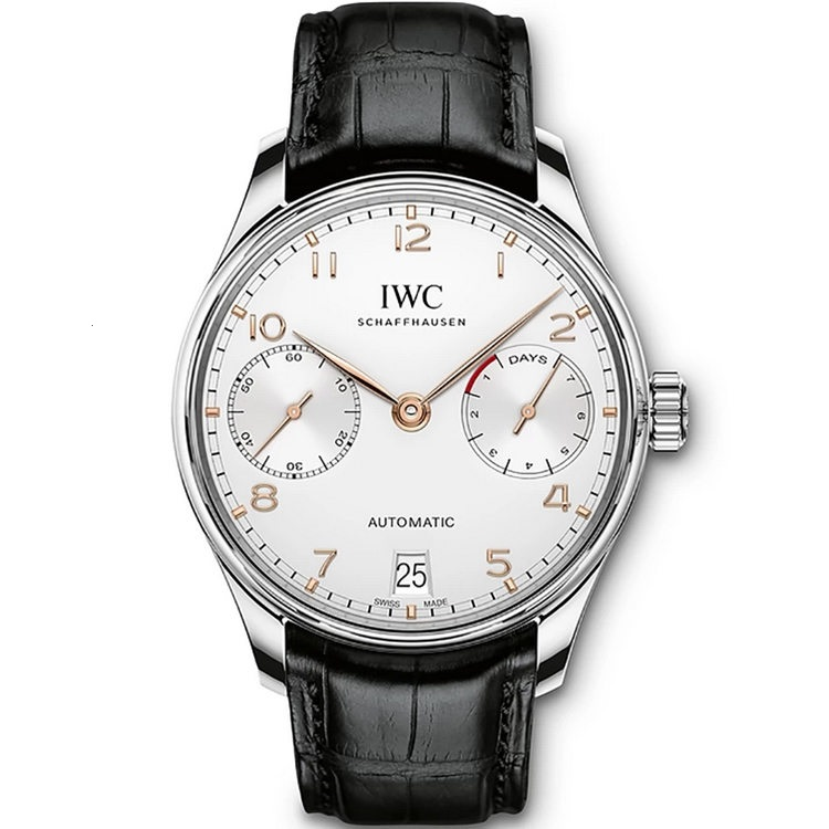 Replica IWC Portugieser Automatic 7 Day Power Reserve Silver Dial IW500704