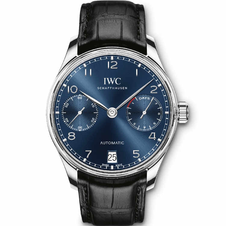Replica IWC Portugieser Automatic 7 Day Power Reserve Blue Dial IW500710