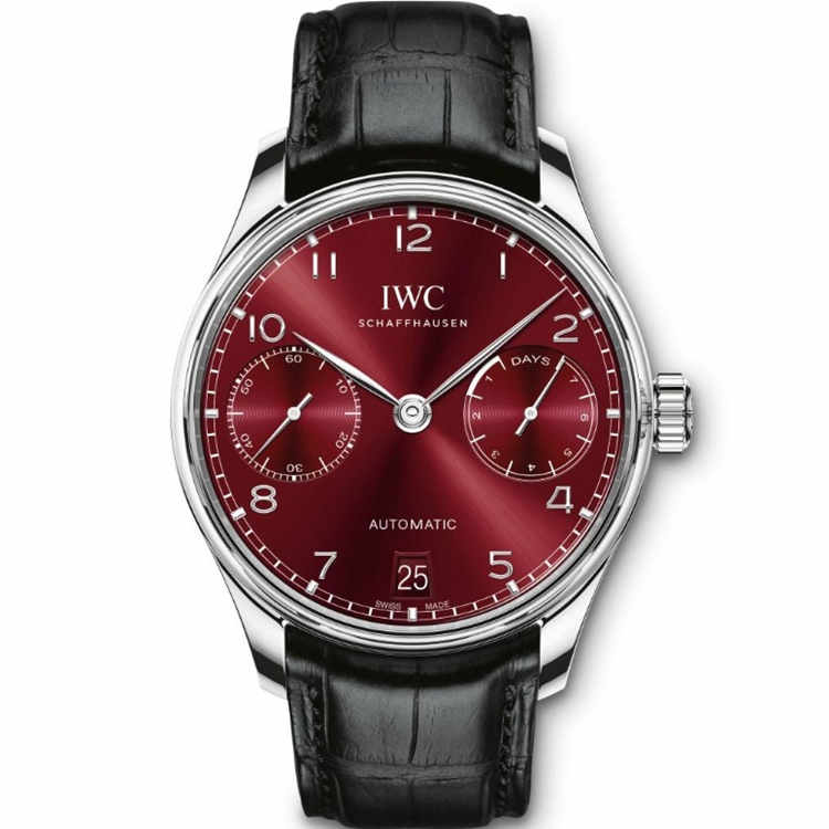Replica IWC Portugieser Automatic 7 Day Power Reserve Red Dial IW500714