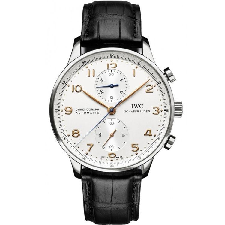 Replica IWC Portugieser Chronograph Silver Dial IW371445