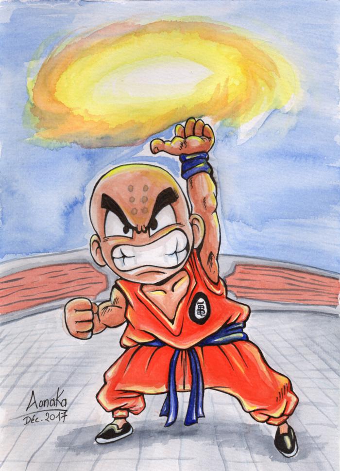 Fan Art Dragon Ball Z - Chibi Krilin - kienzan