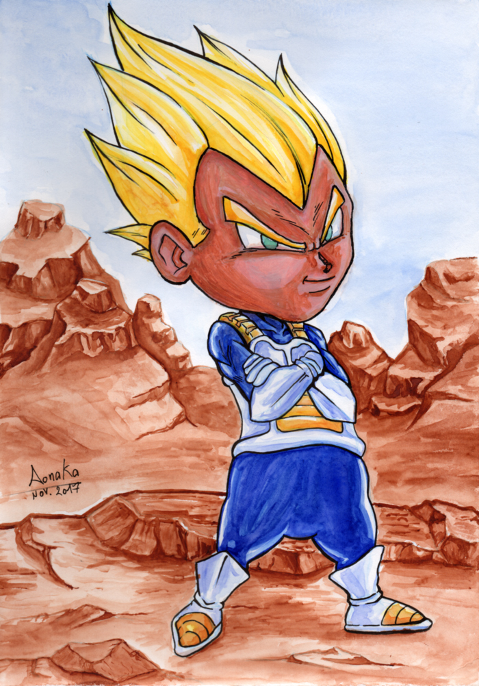 Fan Art Dragon Ball Z - Chibi vegeta01-ssj1