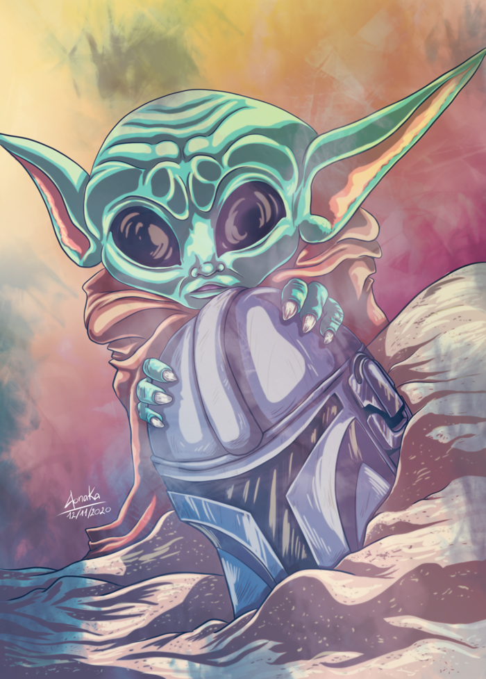 Fanart Star Wars The Mandalorian - Baby Yoda
