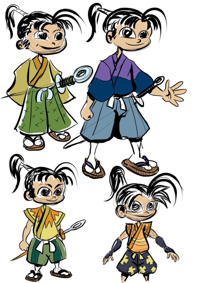 Issun-Boshi - Croquis 02