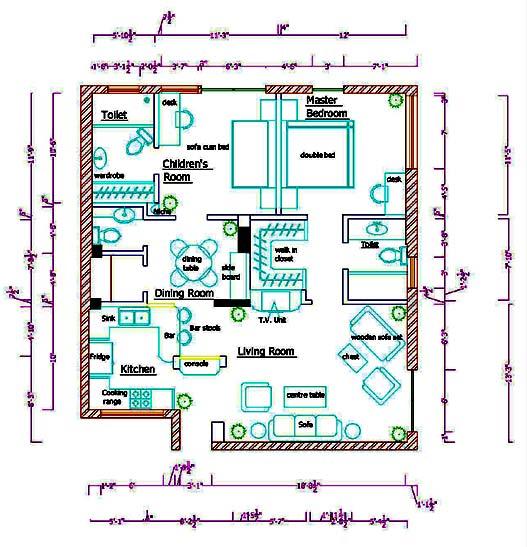 institute school of computer based interior designing