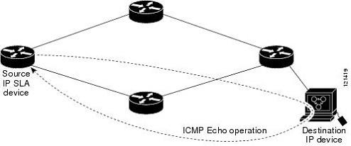 Which statement about the IP SLAs ICMP Echo operation is
