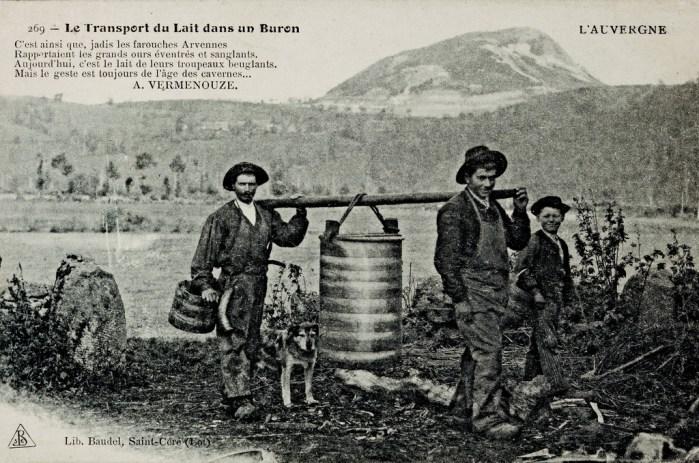 Buronniers, transport du Lait salers