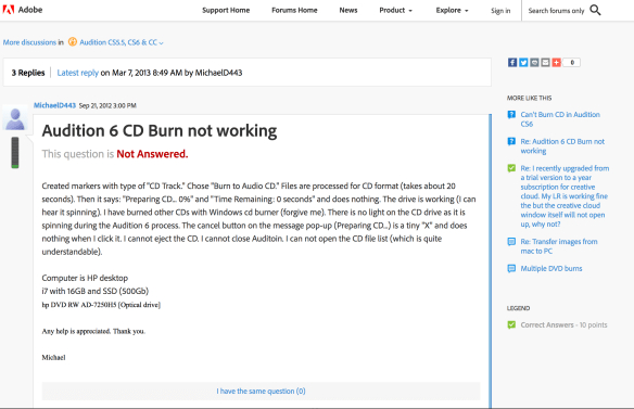 Easy and Free Quick Burn CD Option For Adobe Audition Files