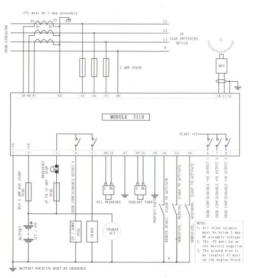 Amf Panel Wiring Diagram Pdf Generator Control Module Dse5110