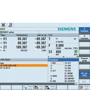 SINUMERIK Operate operating software