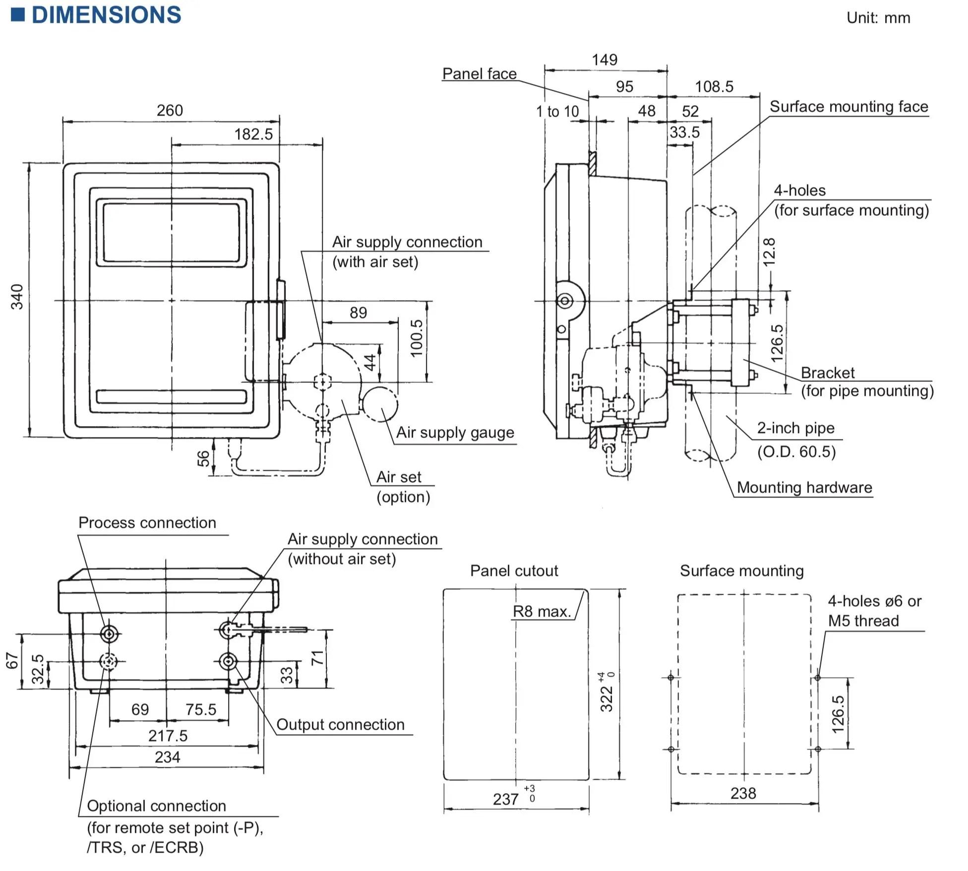 Wholesale competitive YOKOGAWA MC43 Pneumatic Indicating