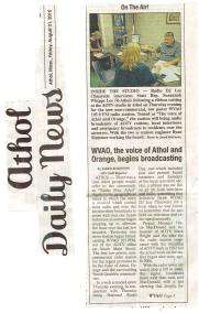 WVAO On The Air Article