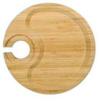 Wine Party Plates, Vino Plate Clip, Bamboo