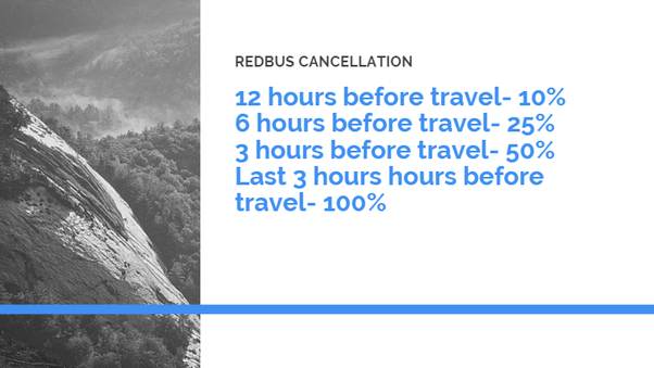 redbus cancellation charges
