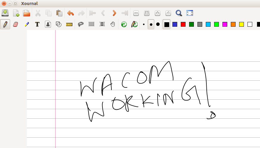wacom tablet ubuntu working