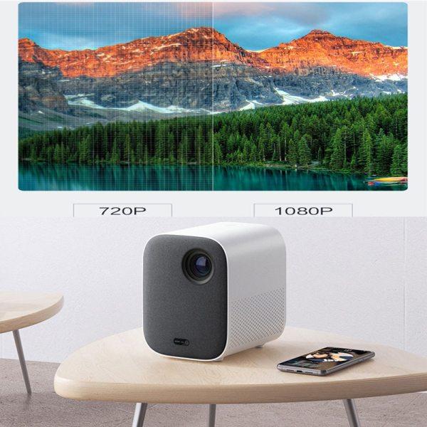 4K Video Xiaomi Mijia DLP Projector 1080P Full HD AI Voice Remote Control 2GB DDR3 8GB eMMC 2.4G / 5G WiFi 3D BT for Home Cinema 3