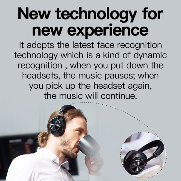 Bluedio T7 Bluetooth Headphones ANC Wireless Headset bluetooth 5.0 HIFI sound with 57mm loudspeaker face recognition for phone 4