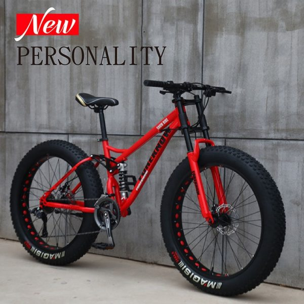 Multi-speed Cross-country 26inch Snow Bike Adult Extra wide 4.0 Large Tire Mountain Bike Male Female Cycling Students Bicycle 6