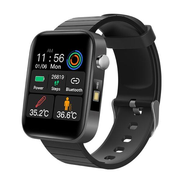 2020 NEW T68 smart watch body temperature detection ECG PPG waterproof camera weather Bluetooth sports pedometer smartwatch 1