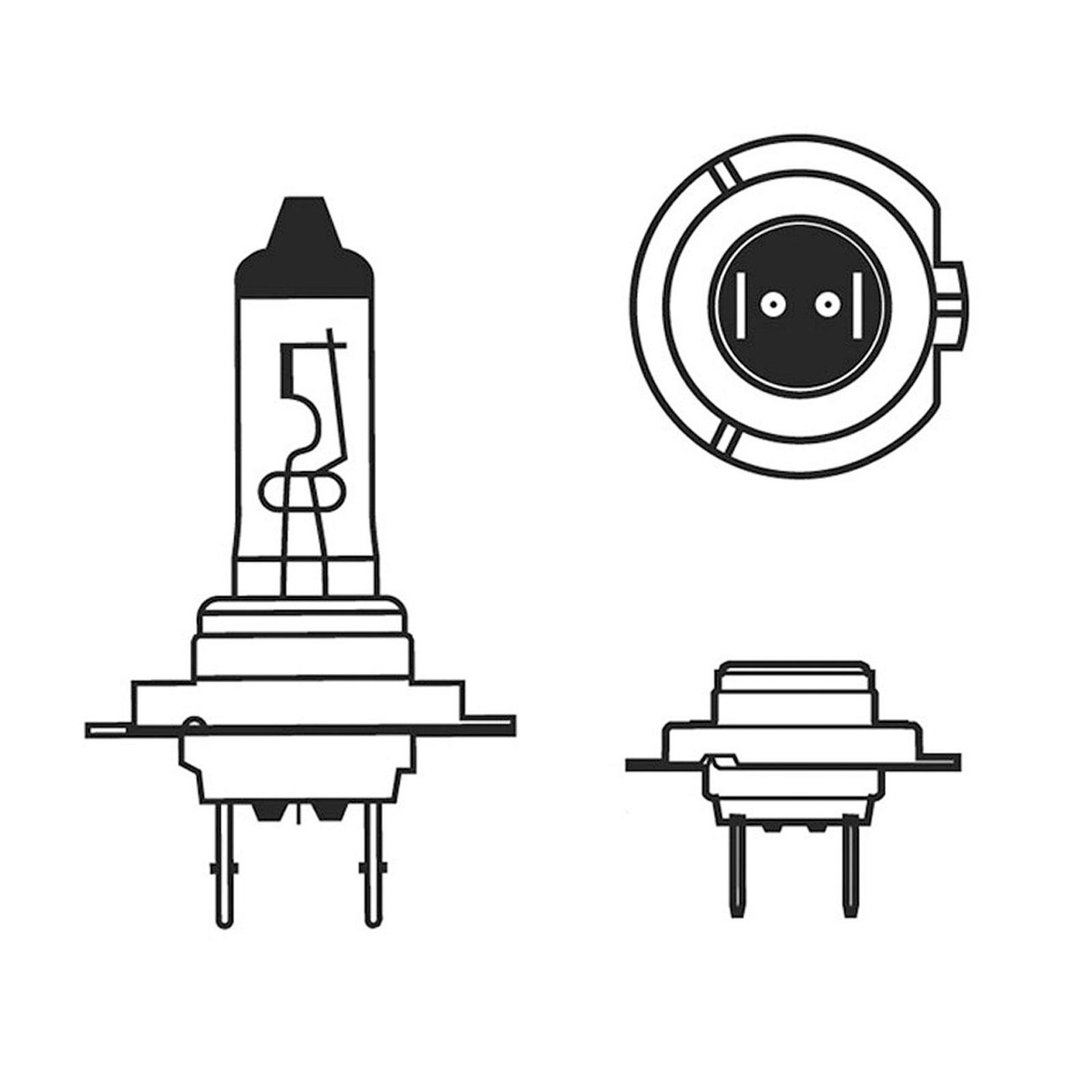 2x H7 Xenon Bulbs 100w 12v White To Fit Headlight Saab 9 3