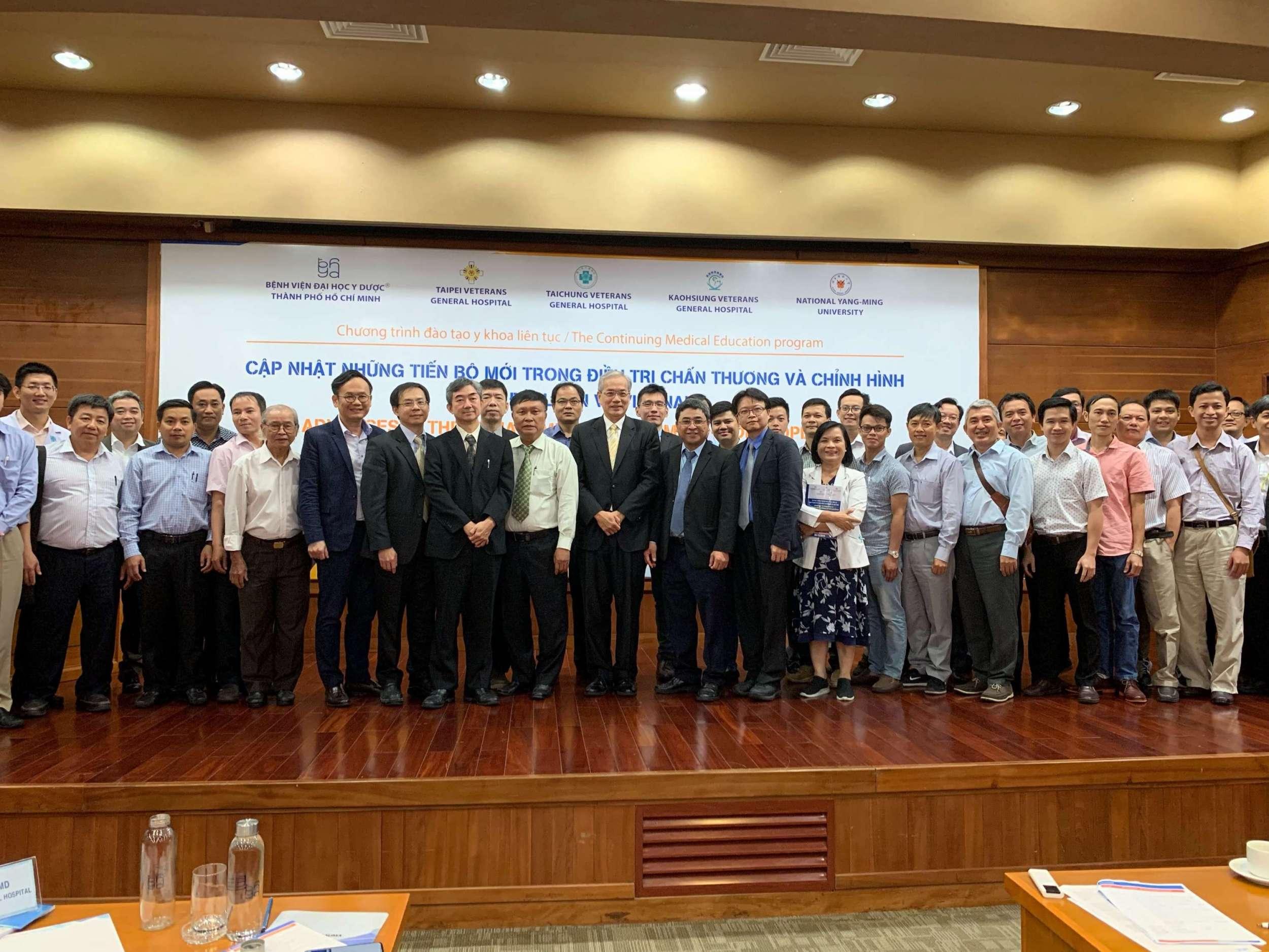協助榮陽團隊於越南胡志明市醫藥大學附屬醫院辦理第二屆臺越骨科論壇