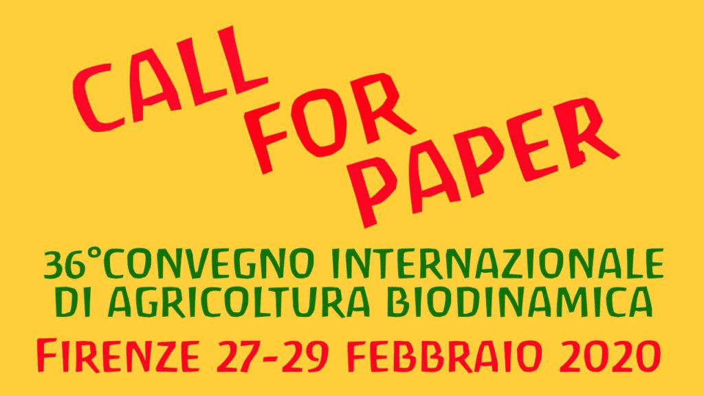 Call For Paper Per 36° Convegno Di Agricoltura Biodinamica