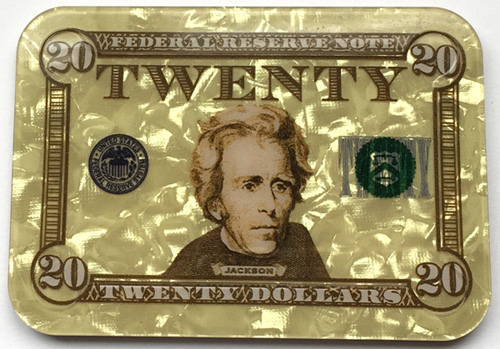 $20 Andrew Jackson Poker Plaque
